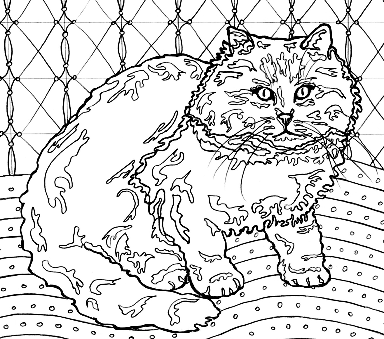 Drawings to Color - Cats Meow Art